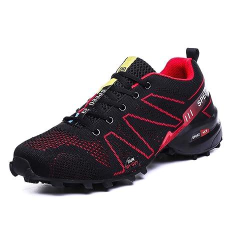 MISS&YG Los Hombres Zapatillas De Senderismo Ligero Zapatillas Zapatillas para Caminar Zapatos De Entrenamiento,Red