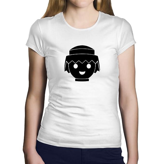 OKAPY Camiseta Playmobil. Una Camiseta de Hombre para los Fans de los playmobil. Camiseta Friki de Color Blanca 7hT1SOtiaR