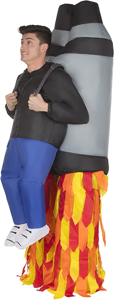 Jetpack Pick Me Up Inflatable Costume - Great Illusion Fancy Dress Outfit One size fits most