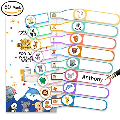 Baby Bottle Labels, Tinabless Write-On, Self-Laminating, Daycare Waterproof Labels (Pack of (Laminating Accessories)