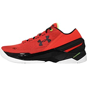 50%OFF Running Shoes Under Armour Curry 2 Grey and Red (3