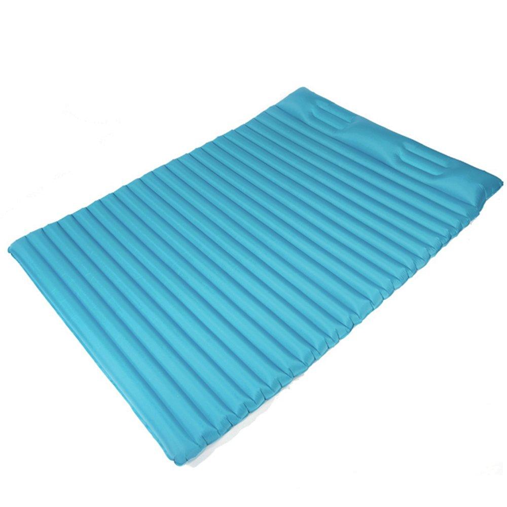 HPLL Aufblasbares Bett Doppeltes aufblasbares Bett Ultraleichtes Luft-Bett plus starkes kampierendes Luftpolster FeuchtigkeitsBesteändiges Kissen im Freien (Farbe : A)