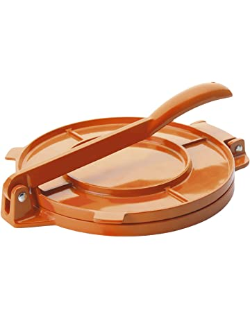 Ibili 799820- Prensa para tortillas, aluminio naranja, ...