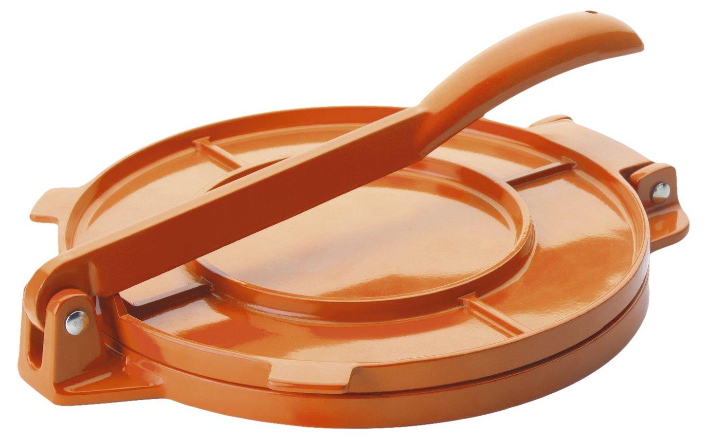 Ibili 799820Pressa per Tortillas, in Alluminio Arancione, 20cm