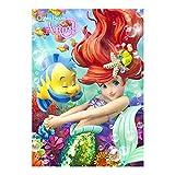 Disney The Little Mermaid Ariel 3D Lenticular Greeting Card / Disney 3D Postcard