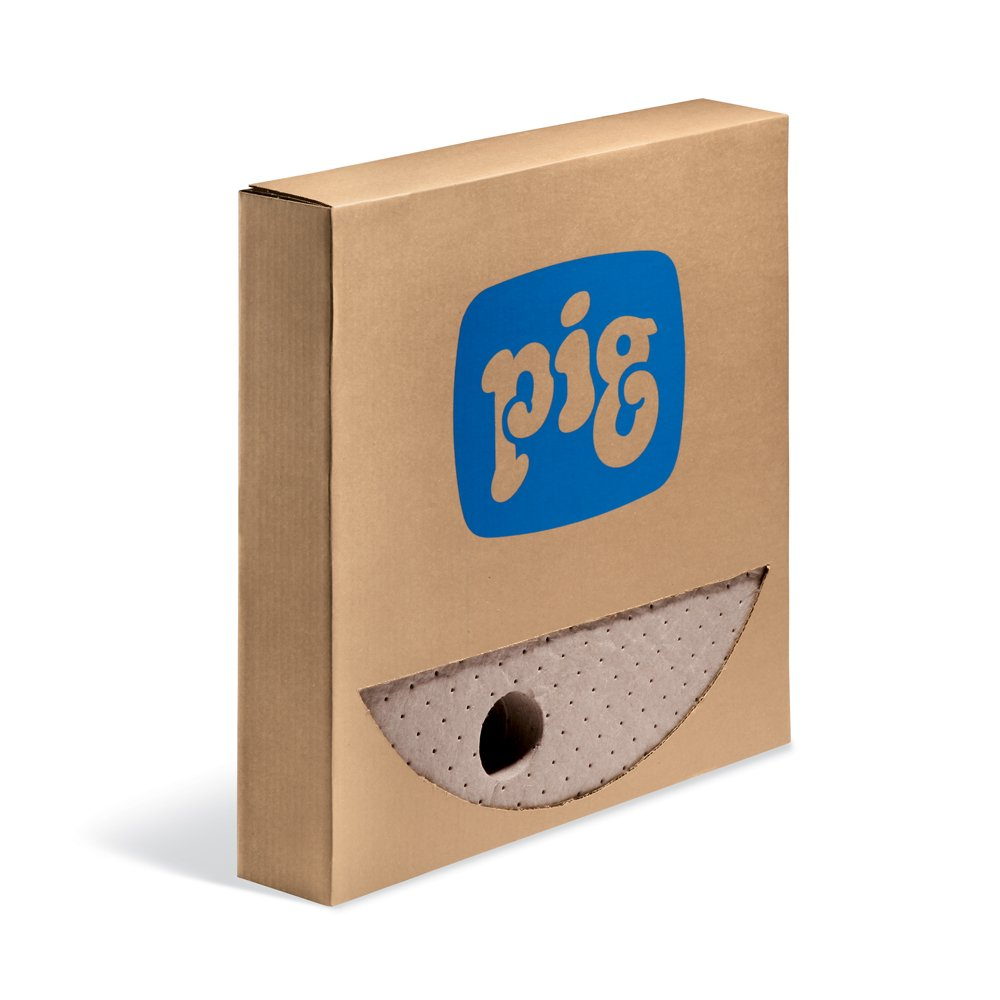 New Pig Oil-Only Barrel Top Absorbent Mat, For 55-Gallon Drums, Absorbs Oil-Based Liquids, Repels Water, 35 oz Absorbency, 22'' Diameter, Brown (25 Pads), MAT508 by New Pig Corporation