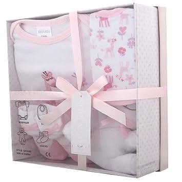 Neugeborenes Baby Geschenk Set Mit Bodysuit Latzchen Spielzeug