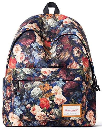 (Forestfish Women Backpack School Bookbags Travel Daypack Laptop Bag)