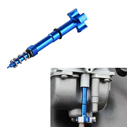NICECNC Motorcycle Blue Air/Fuel Mixture Screw Adjuster Keihin FCR Carb for  Honda Yamaha Kawasaki Suzuki CRF YZF WR KXF KLX RMZ (Blue)