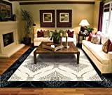 Contemporary Area Rugs for Living Room 8×10 Clearance 8×11 Cream Moroccan Trellis Rugs Prime Review