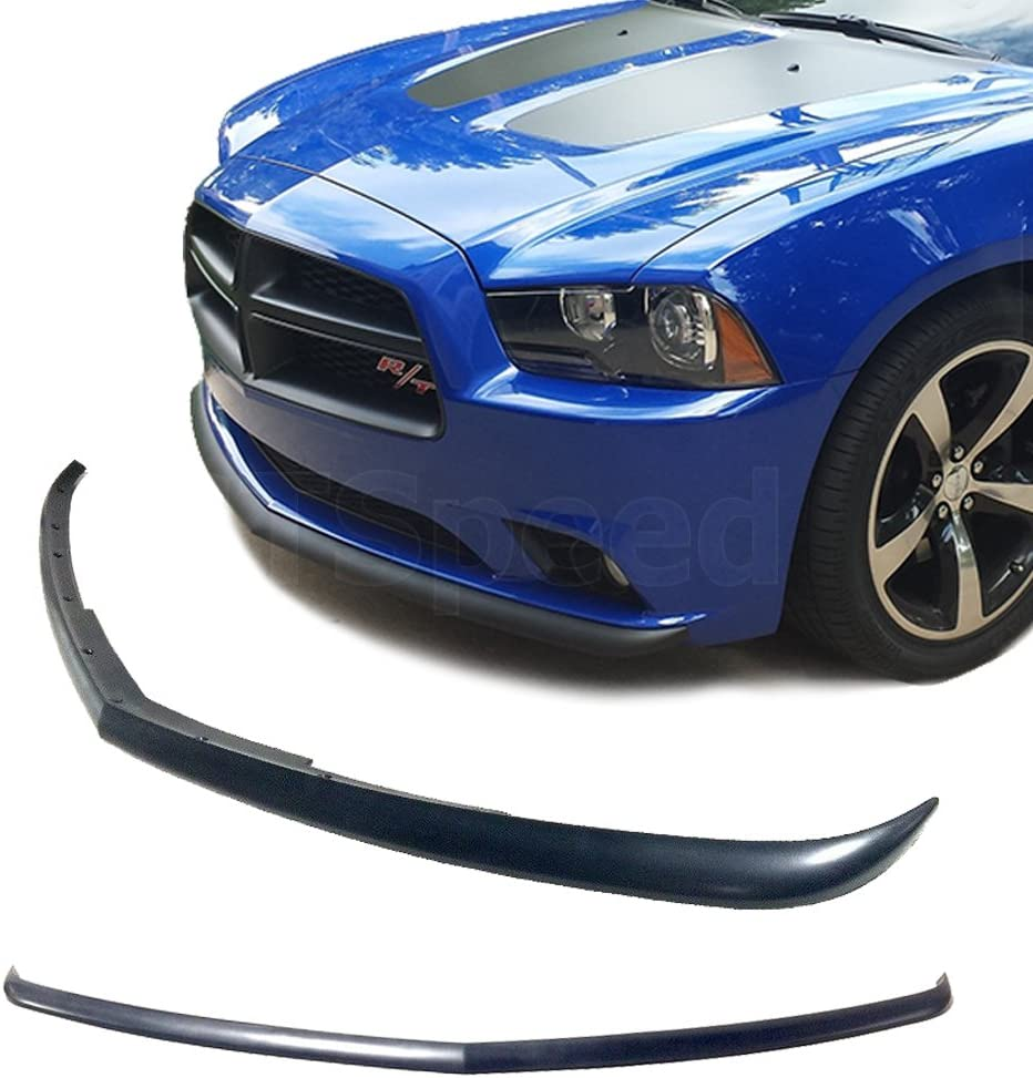 Fits 11-14 Dodge Charger Sedan 4DR PP OE Style Front Bumper Lip Spoiler