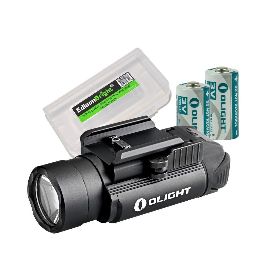 EdisonBright Olight PL-2 (PL2) 1200 lumen LED weapon/pistol light with battery carry case bundle by EdisonBright (Image #1)