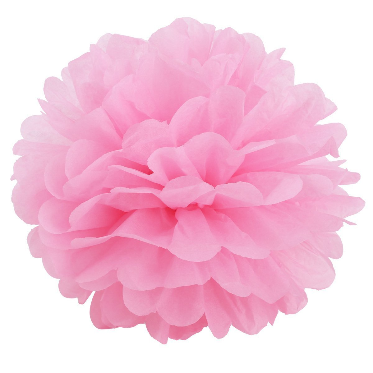 Sungpunet 10Pcs Pink Tissue Paper Flowers Pom Poms For Wedding Party Decoration Lanterns Table and Wall Decor PHT
