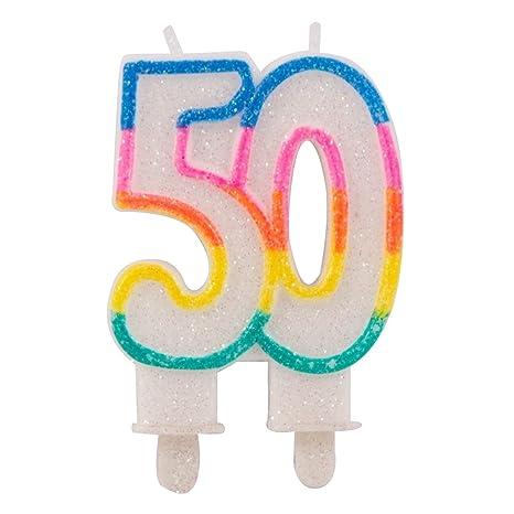 Velas de Cumpleaños 50: Amazon.es: Bebé
