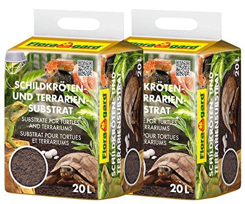 Floragard 2 x Schildkröten- und Terrariensubstrat 20 L, 114861