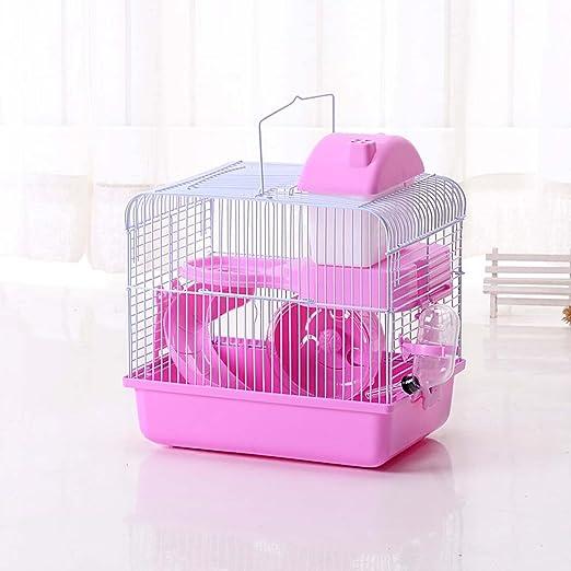 Casa con rueda y escalera para hámsters JTY Jaulas de 2 pisos para hacer usted mismo de 27 x 21 x 30 cm: Amazon.es: Productos para mascotas