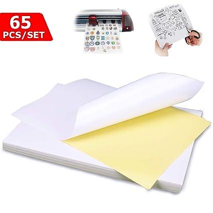 Impresora Papel A4 Etiquetas universales Autoadhesivas Hojas Etiqueta blanca Papel Etiqueta Impresora Imprimible para impresoras láser y de inyección ...