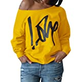 Womens Plus Size Off Shoulder Pullover...