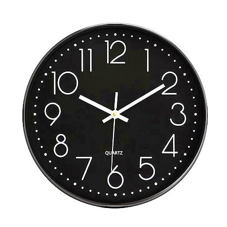 Foxtop Modernos Elegante Nostalgie Reloj de pared Silencioso Grandes Originales Cocina Decorativas, 12 pulgadas (