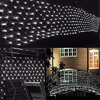 LUCKY CLOVER-A Christmas Net Lights, 8M x 10M 2600 LED, Fairy Net Lights Festival Decorations Mesh Lights High Brightness, Outdoor Indoor Waterproof, Color Selectable, With Tail Connection , White