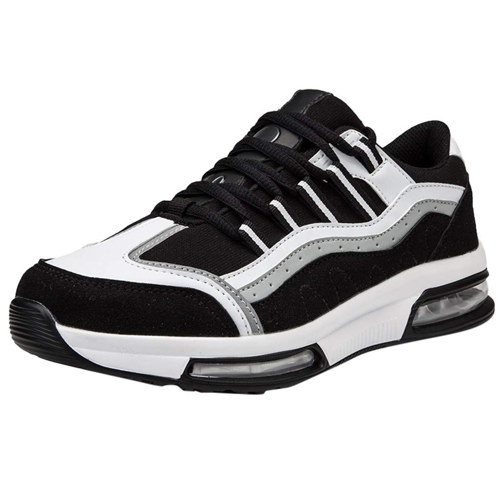 Miuye yuren-Shoe Running Shoes for Men Outdoor Sports Casual Comfortable Athletic Sneakers Slip-On Lightweight Walking Shoes Black by Miuye yuren-Shoe