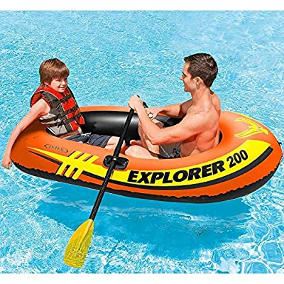 Intex Explorer 200 Inflatable Youth Pool Boat Raft (Raft Only) (4 Pack): Sports & Outdoors