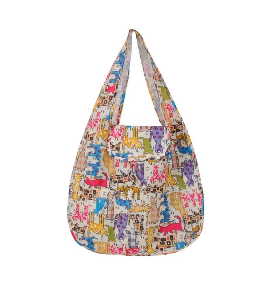 Hornet Park Large-Capacity Shopping Bags Creative Folding Shopping Bags, Yellow