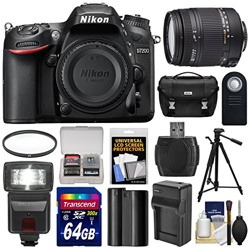 nikon-d7200-wi-fi-digital-slr-camera-body-with-sigma-18-250mm-os-lens-64gb-card-battery-charger-case