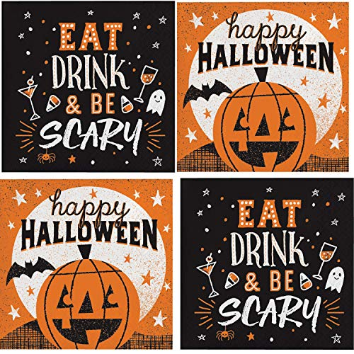 Halloween Cocktail Napkins Assorted Variety Pack 32 total