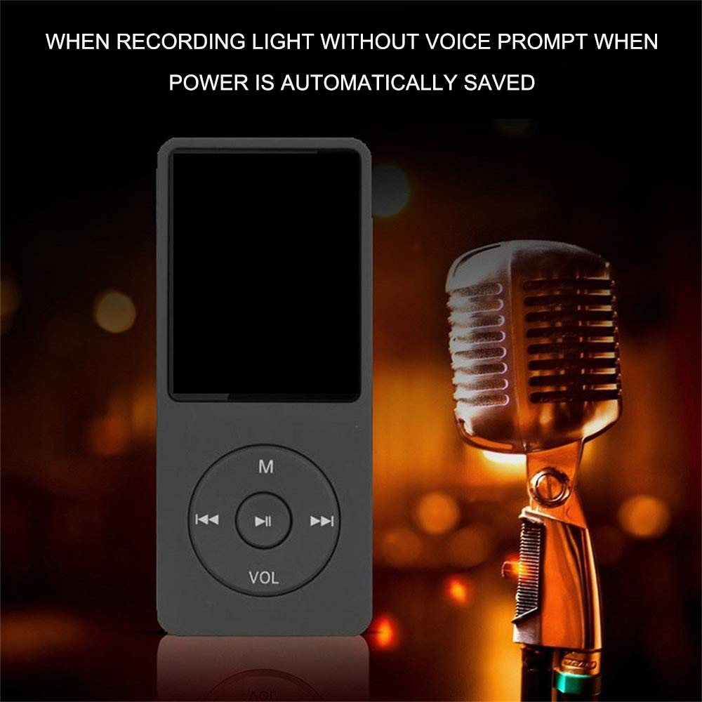 Radio FM Altoparlante Voice Recorde Lettore Musicale Player Portatile Supporto 64GB TF USB per Uomo Donna Sport Corsa Yoga Palestra Bianco//Nero//Blu//Azzurro//Rosa Festnight Lettore MP3 con Cuffia