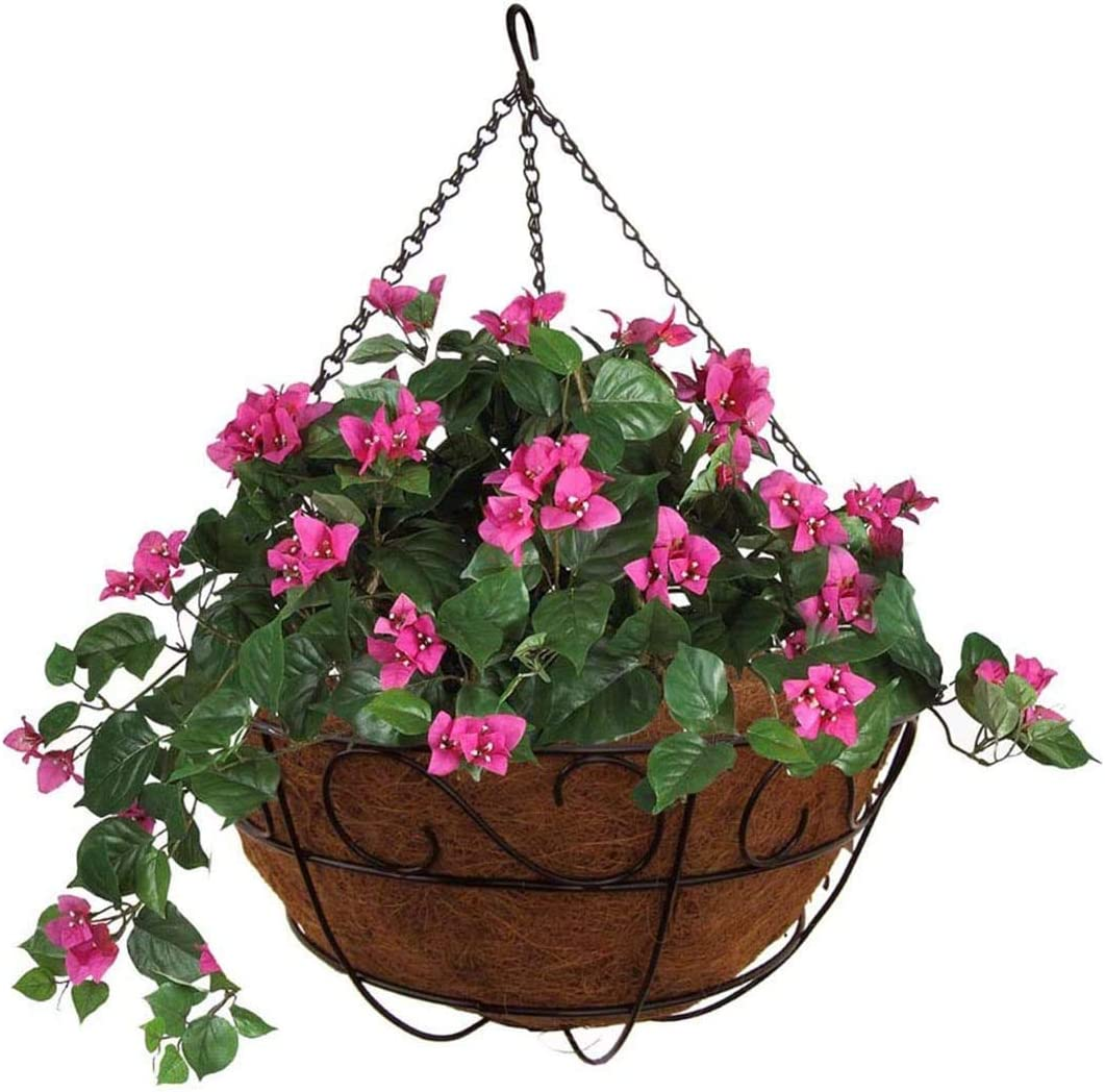 "MTB Garden Hanging Baskets 16"" S Style with Coco-Liner, Pack of 2,Hanging Planter Plant Hanger Hanging Flower Basket Chain Basket and Plant Growers for Home Balcony Patio Decoration"