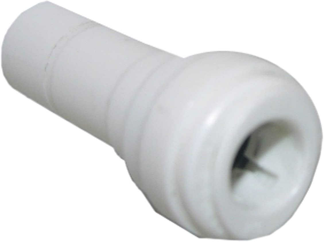 LASCO 19-6257 Reducer Push-In Fitting with 3//8-Inch Stem and 1//4-Inch Tube Plastic