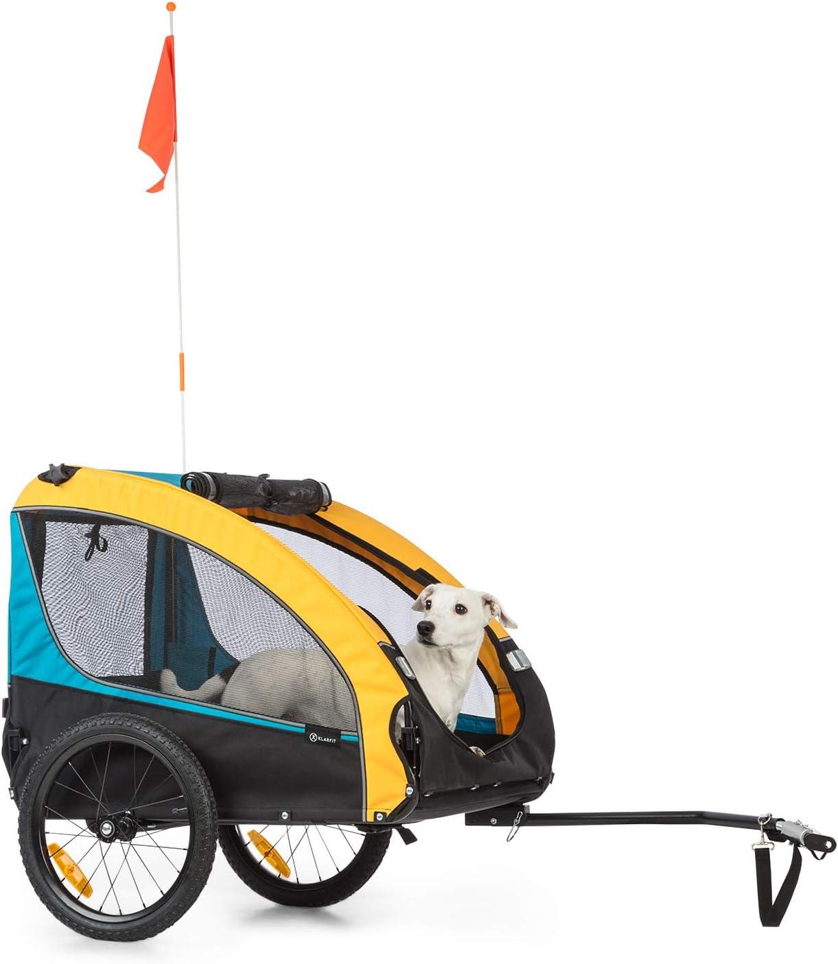 env mat/ériel : 600D Oxford Canvas 240 litres de Volume remorque et Poussette pour Chien KLAR FIT Husky Vario 2-en-1 SmartSpace Concept Charge maximale : 40 kg