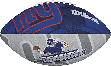 Wilson Football NFL Junior NY Giants Logo Junior - Balón de fútbol ...