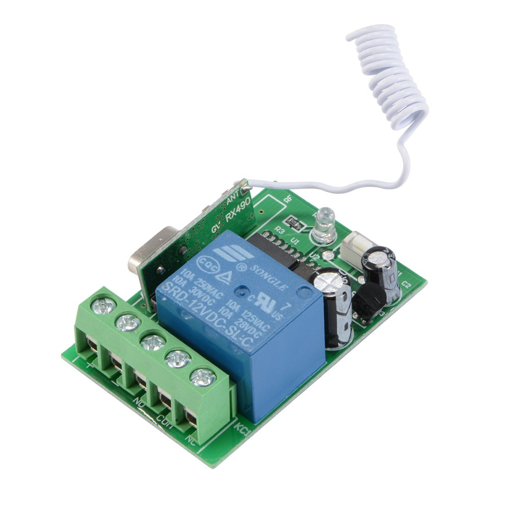Xcsource Dc12v 433mhz Relay Control Single Channel Wireless Gvdckz Audio Receiver 433 Mhz Rf Module Using Circuit Diagram Nonstop Free In Remote Switch 3 Mode 3pcs Gv706 Transmitter Hs1055