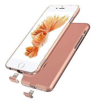 bateria iphone 7 plus con carcasa rosa