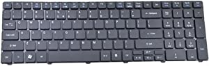 Eathtek Replacement Keyboard for Acer Aspire 5810 5741 5740 5336 5536 5738 5551 5552 7735 7551 Series Black US Layout