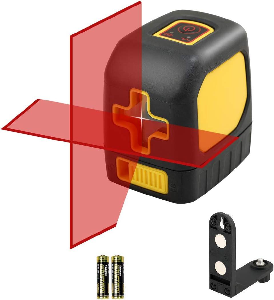 DLEADER nivel láser línea transversal láser nivel de silencio línea de haz rojo nivel láser
