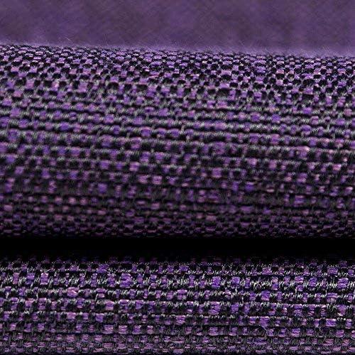 McAlister Textiles Savannah Plain Jacquard Decorative Aubergine Purple Cushion