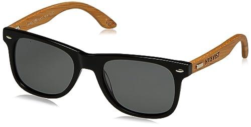 HÄRVIST Waymix, Gafas de Sol Unisex, Negro / Bambú Natural, 52