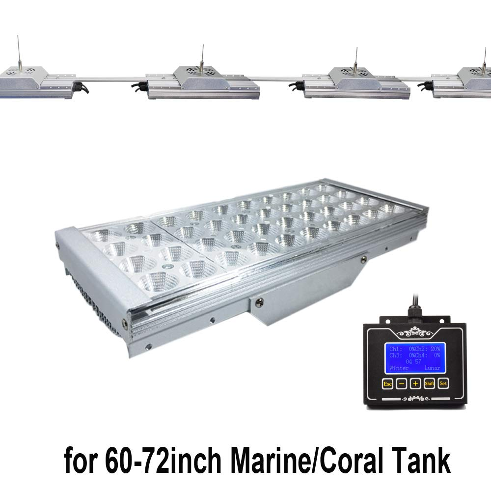 Timer Control Marine Lighting For 60 -72  Coral Reef Fish Tank, Saltwater Led Lamp Programmable Dimmable SPS LPS