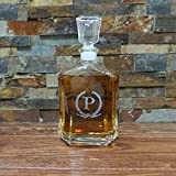 Personalized Liquor Whiskey Glass Decanter