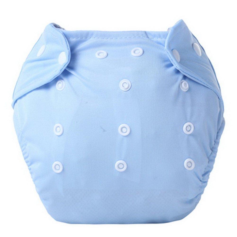 Babynice Bébé Nouveau-né Couches Culottes d'apprentissage Etanche Réglable Couches Lavable Douce pour Bébé 0-24mois (0-24mois, 3pcs Bleu)