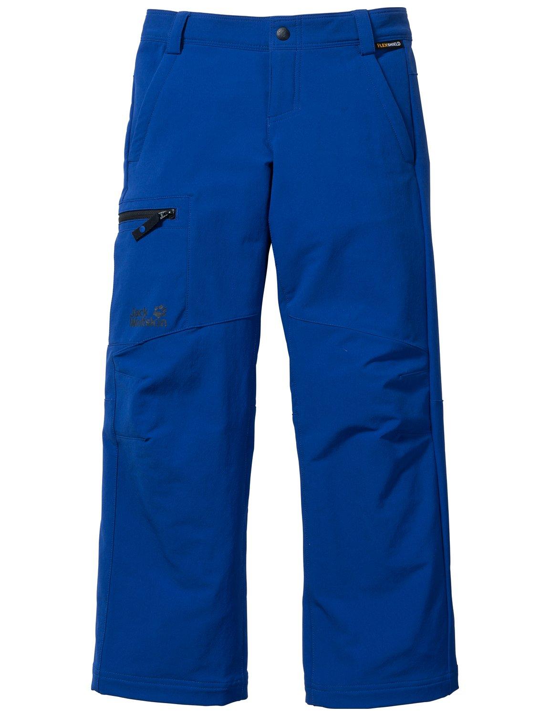 Jack Wolfskin Kids Boy's Activate II Softshell Pants (Little Kid/Big Kid) Active Blue 13-14 Years