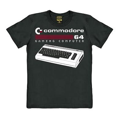 Traktor Nerd - Ordenador - Commodore 64 - Teclado - Camiseta - Negro - Diseño Original con Licencia: Amazon.es: Ropa y accesorios