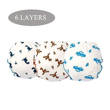 Pantalones de entrenamiento de algodón Ropa interior Niños niñas impermeables, Niño bebé pañal de tela