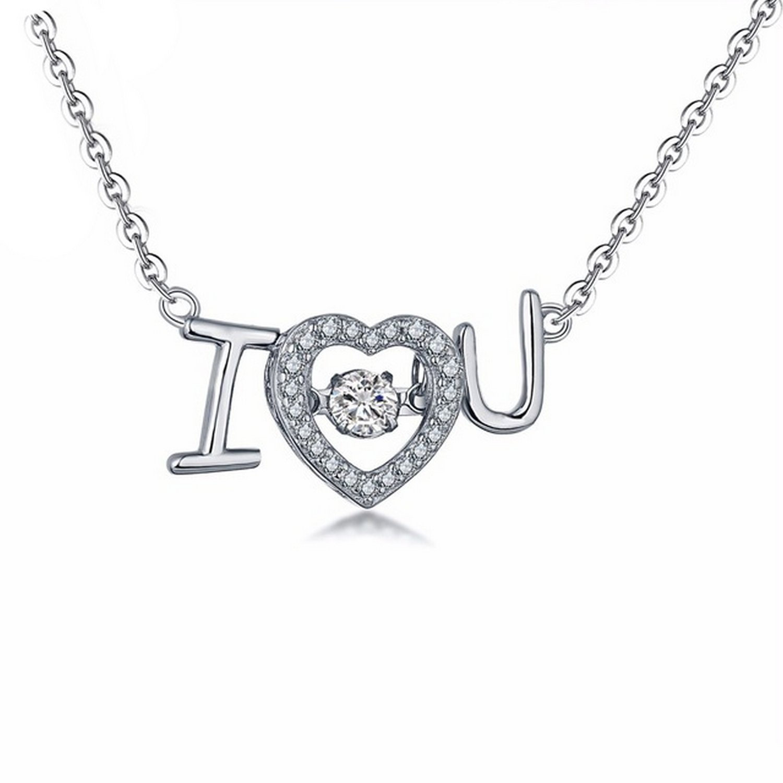 CS-DB Silver Necklaces Love Charm Chain Charm Pendants