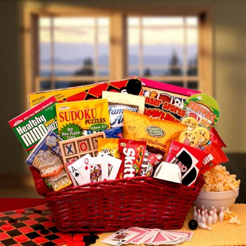 Fun an Games! Activity and Snack Gift Basket (Fun Food Gift Baskets)