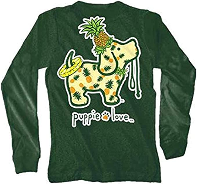 Puppie Love Pineapple Pup Youth Long Sleeve T-Shirt