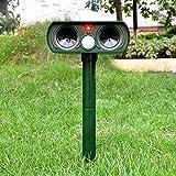 Elevavie Dog repeller ultrasonic,Outdoor Solar Powered and weatherproof Ultrasonic Animal control ,Pest Repellent, Rodent Repellent, Bird Repellent, Cat Repellent